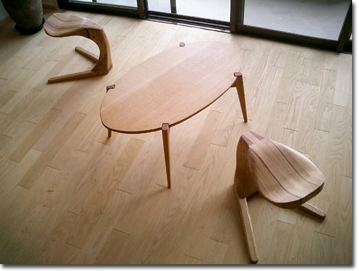 ローテーブル・楕円