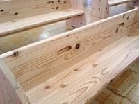 別注家具 - スギの子供用ベンチ