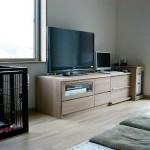 タモ集成材のテレビボード