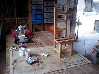 木工教室ハイバックチェア