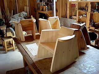 木工教室子ども用ロッキングチェア完成